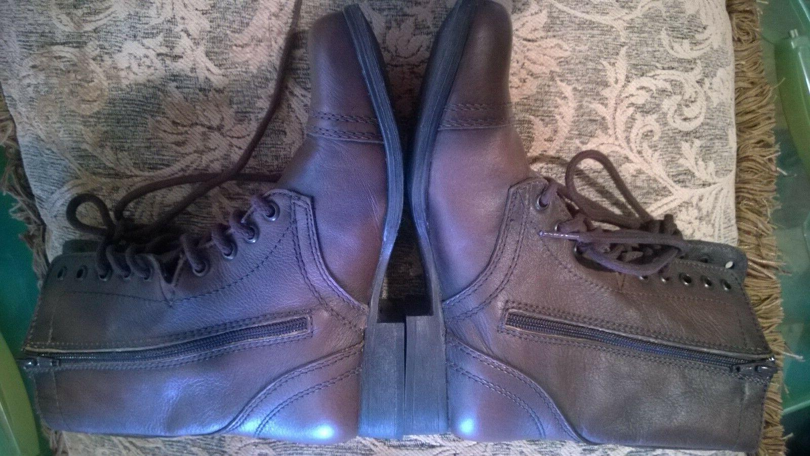 Steve Madden Combat Leather Up Side Size