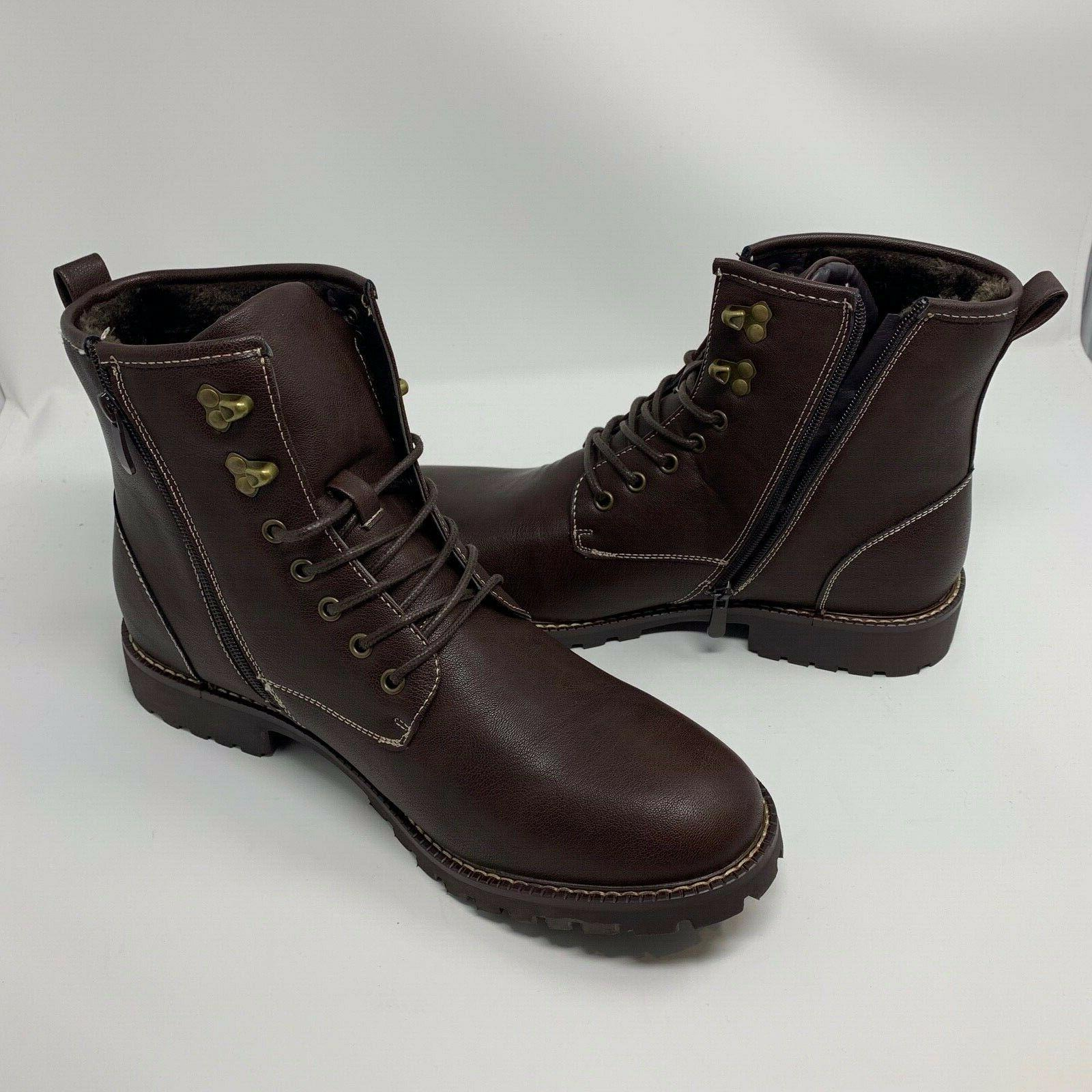 Dress Motorcycle Combat Ankle Brown