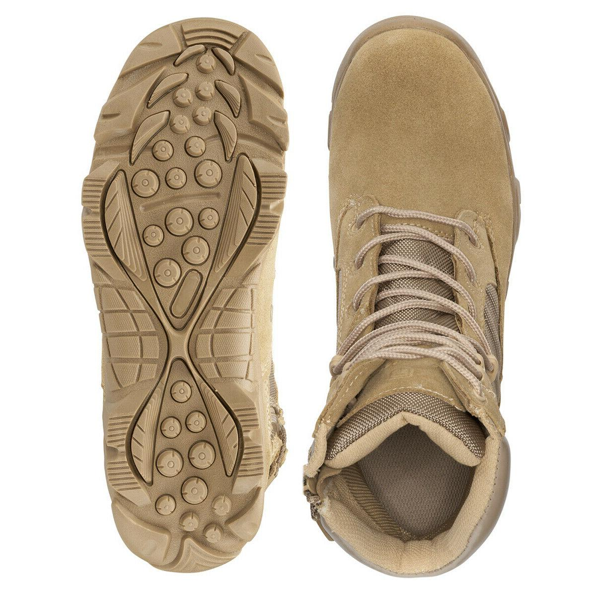 Bufferzone® Tan Combat Boots With