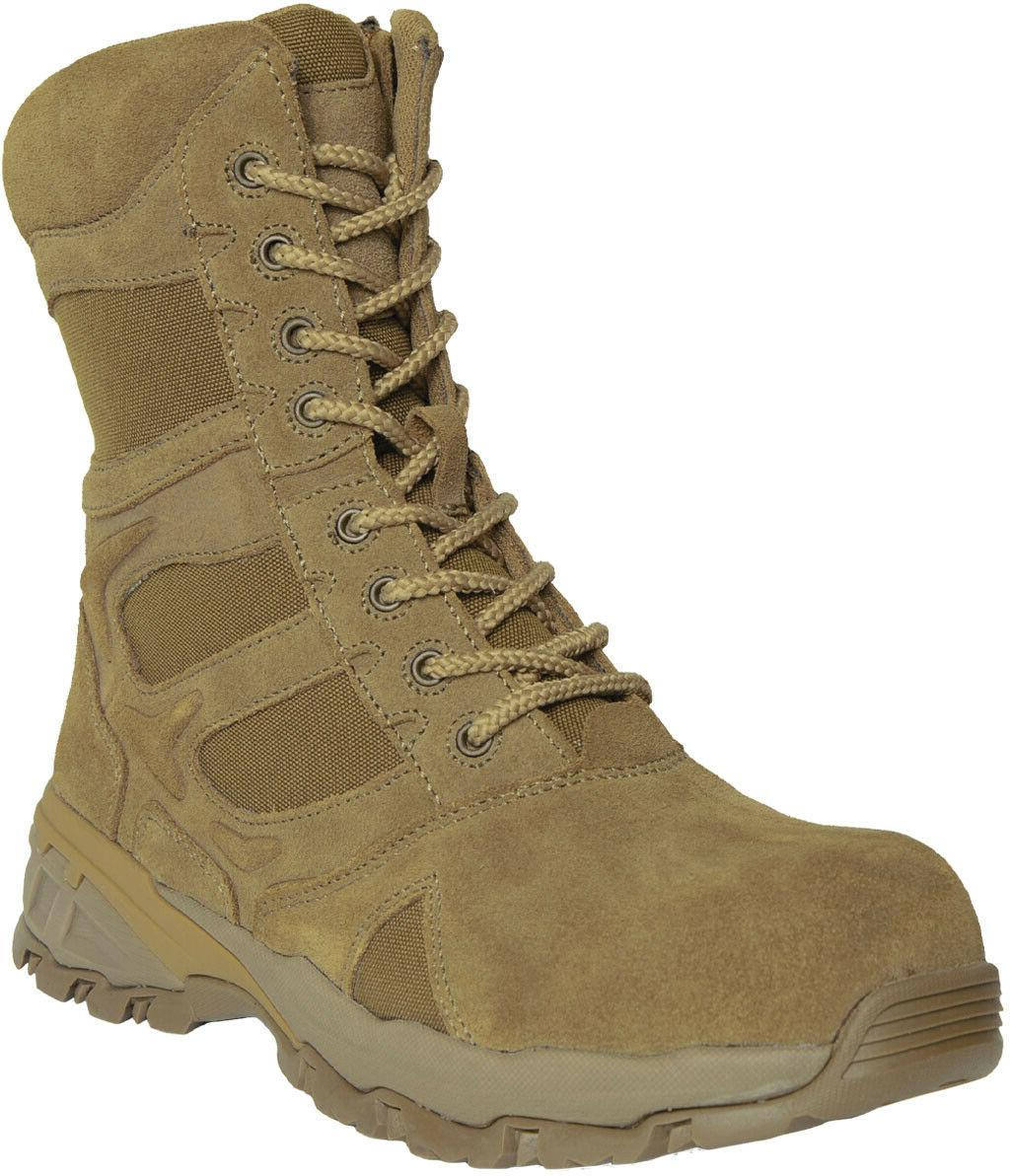 Coyote Combat Tactical Zipper Boots