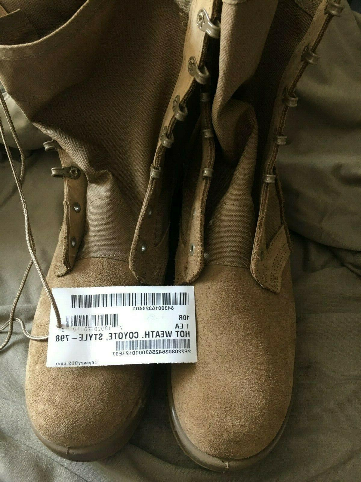coyote tan combat boots size 10r new