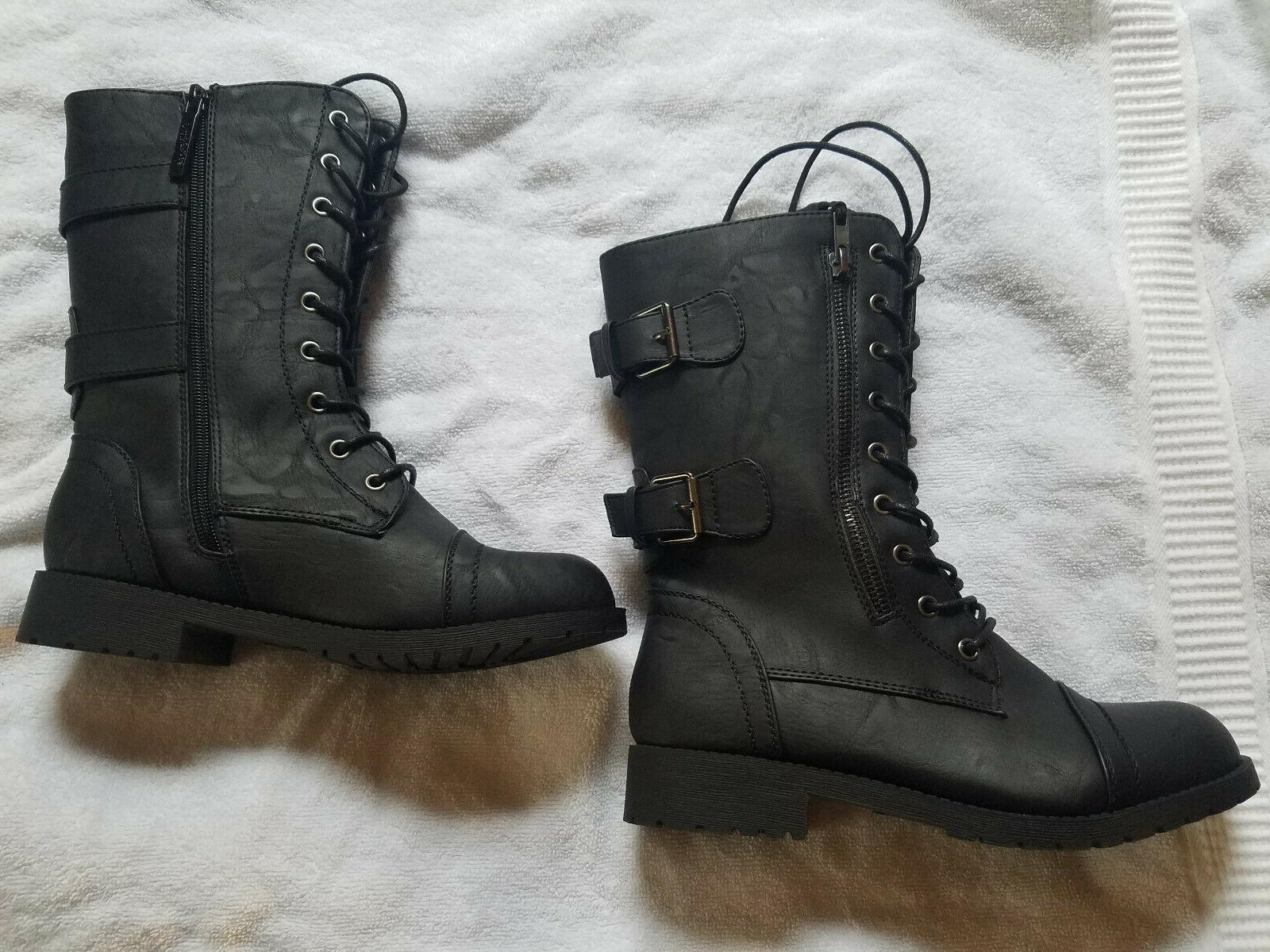 DailyShoes Ankle Bootie Military Combat Boots size 7.5