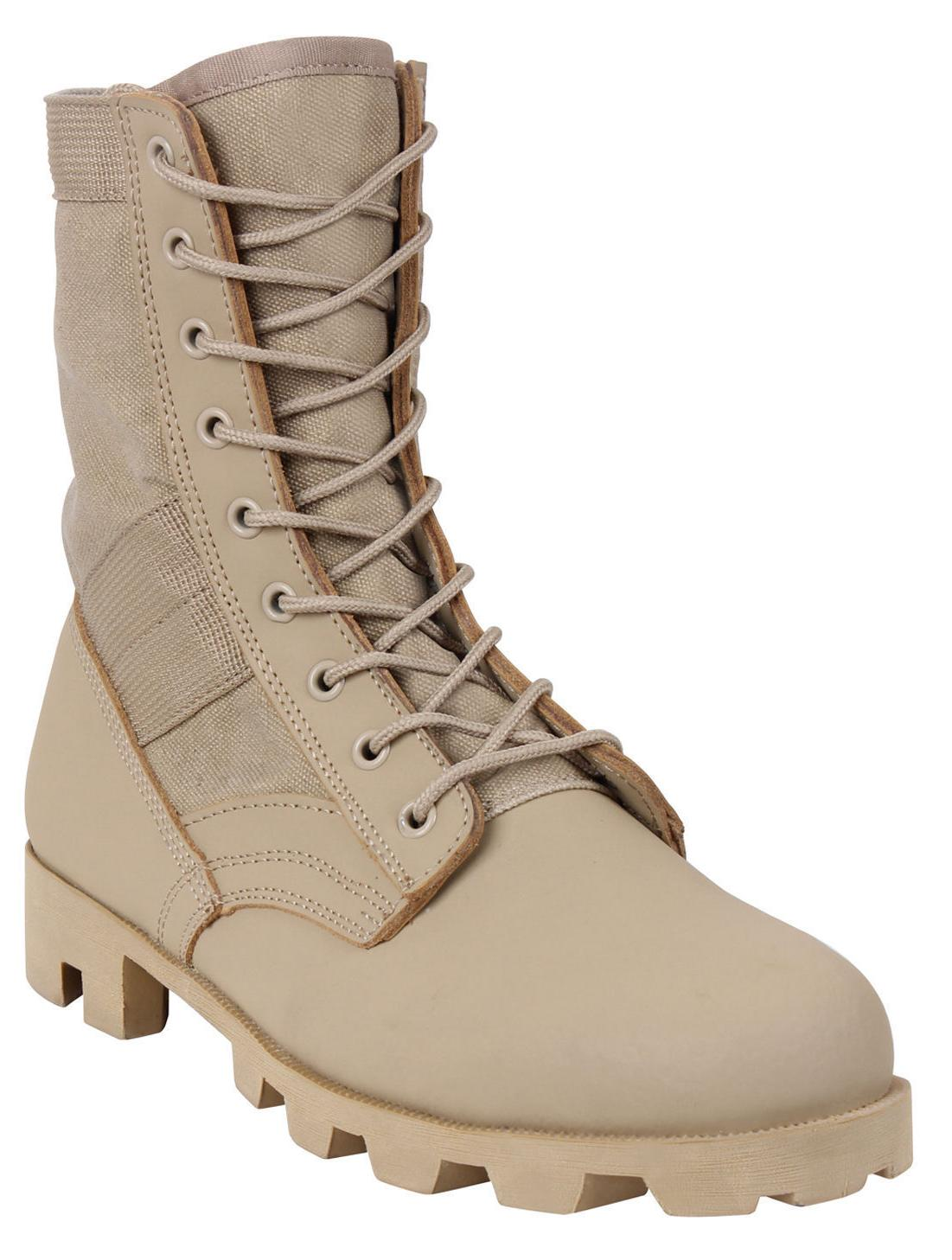 "Desert Tan Panama Sole Combat Boots Military 8"" Tactical Jun"