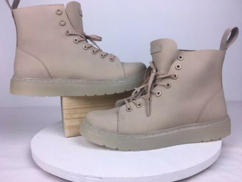 Doc Sand Suede 8-Eye Boots Size 8 New Without
