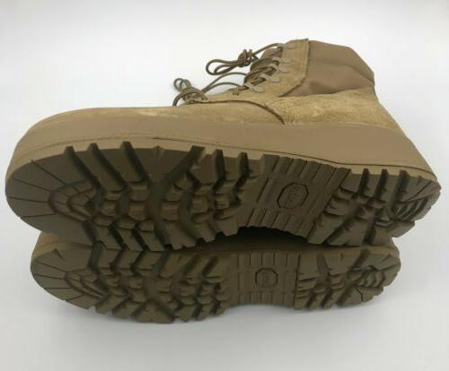 VIBRAM GENUINE Army Combat Hot Weather Coyote 9.5W