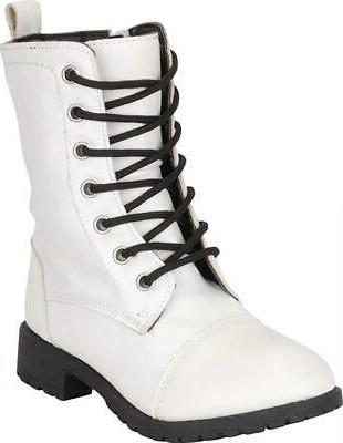 girls classic lace up chunky lug sole