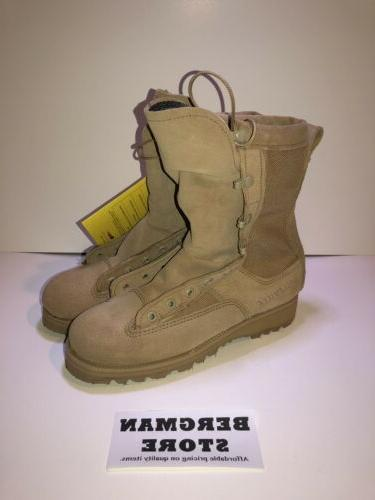 gore tex 790g tan leather combat boots