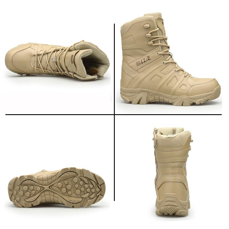 ADBOOV High Black Military Combat 511 Tactical Outdoor Desert <font><b>Boot</b></font> Military