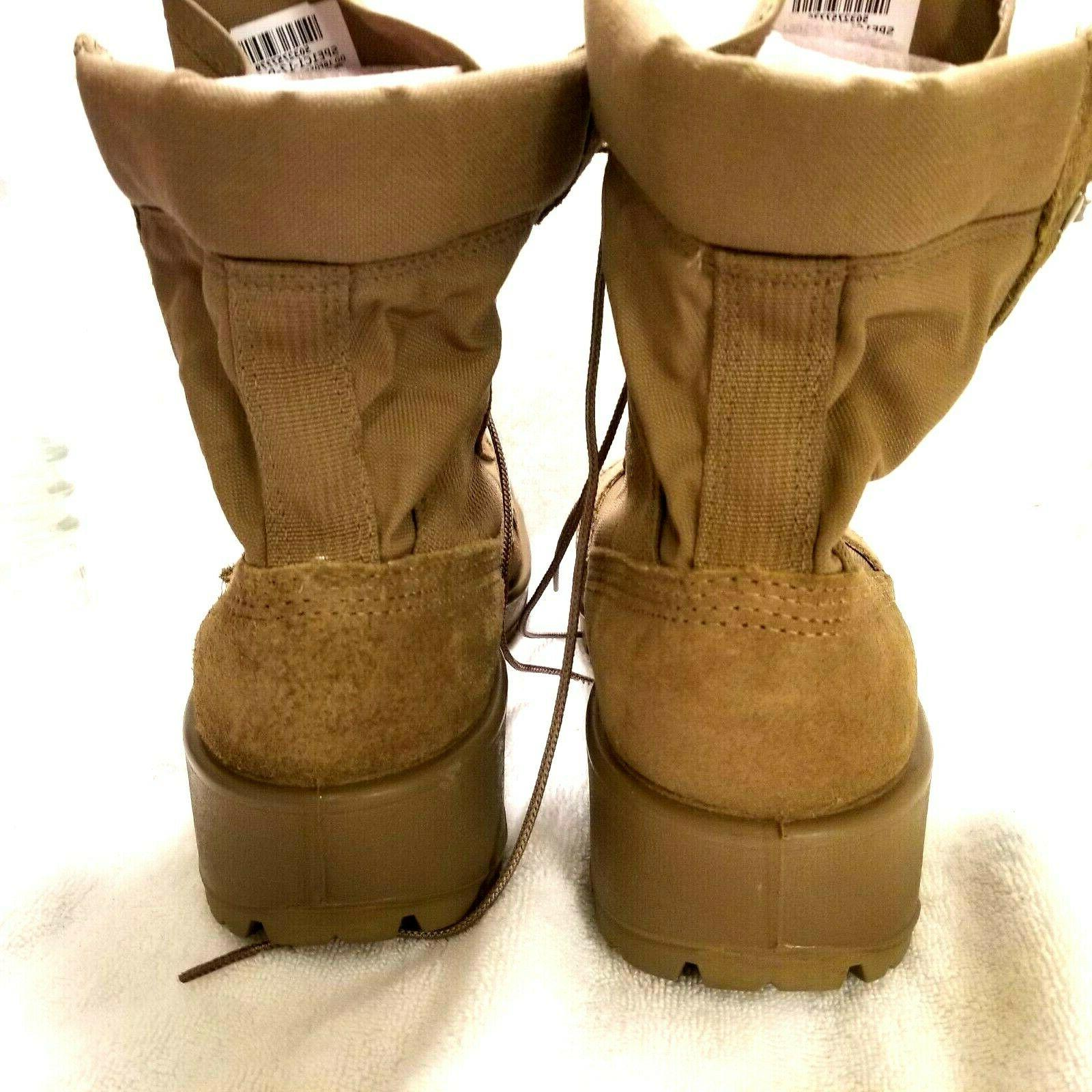 US Military Boots sz W Combat coyote brown