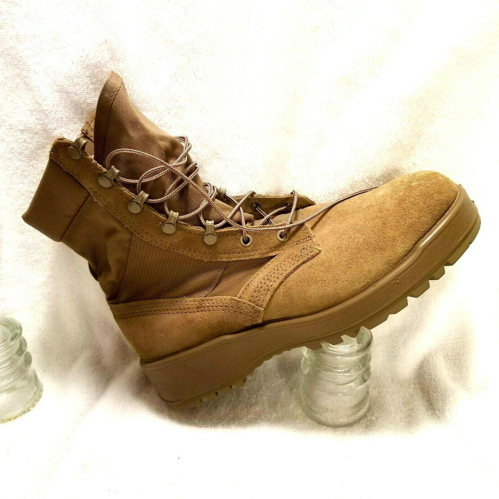 US Army issued Military Boots sz W Combat brown