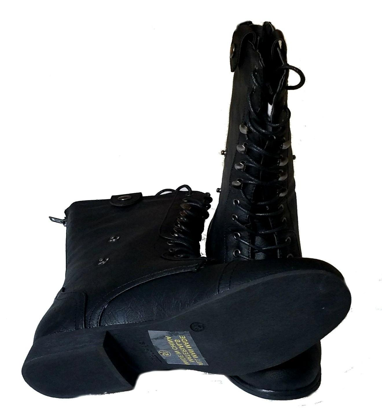 Top Modal SR-01 Women's Mid Calf Low Combat Military Boots Shoes