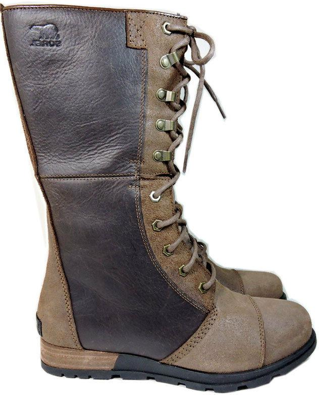 Sorel Calf Zipper Booties 9.5 Brown