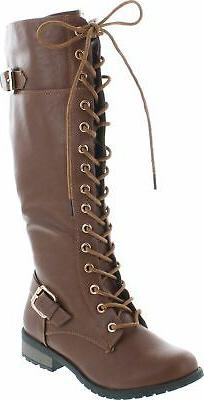 Mango 27 Womens Knee High Buckle Riding Boots
