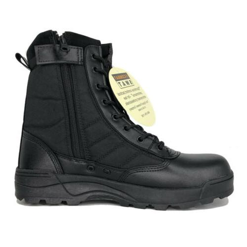 Men's Military Boots Army Duty Boots Zip