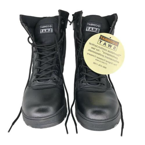 Men's Outdoor Boots Duty Work Zip