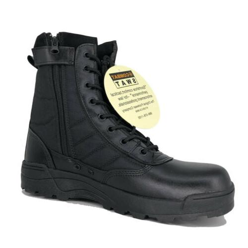 Men's Boots Combat Duty Side Zip