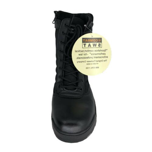 Men's Outdoor Boots Combat Duty Boots Side Zip