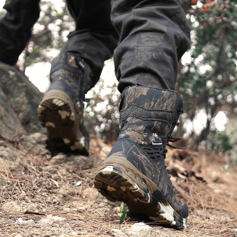 Men Camouflage Winter Shoes Hunting <font><b>Boots</b></font>