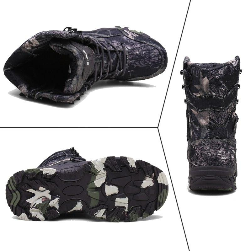 Men Tactical Ankle <font><b>Boot</b></font> Camouflage Winter Work Shoes Male Outdoor Shoes