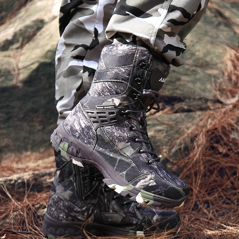 Men <font><b>Boots</b></font> Camouflage Winter Shoes Male Outdoor Hiking Shoes Hunting <font><b>Boots</b></font>