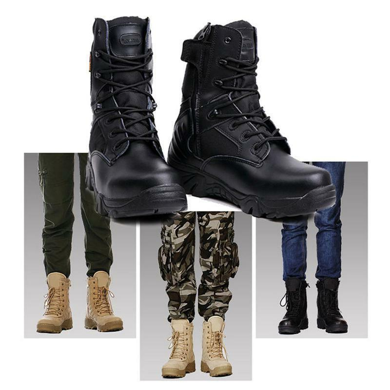 Men Military Duty Work Boots Deployment Boot Shoes Combat