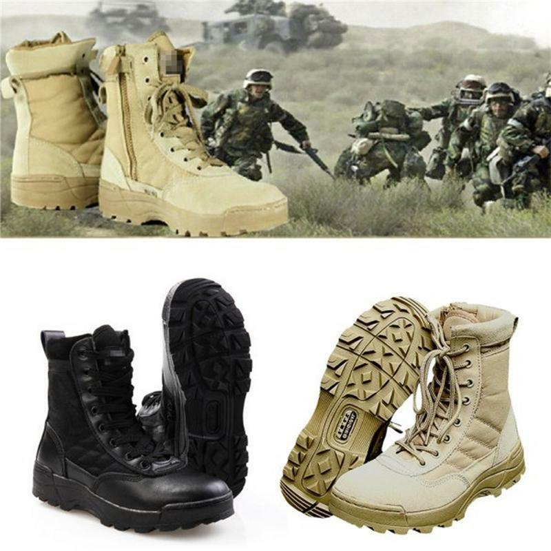 Mens Army Leather Boots Desert