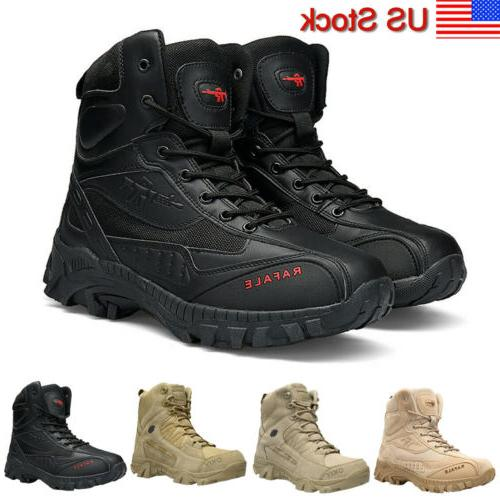 men s military tactical boots side zip