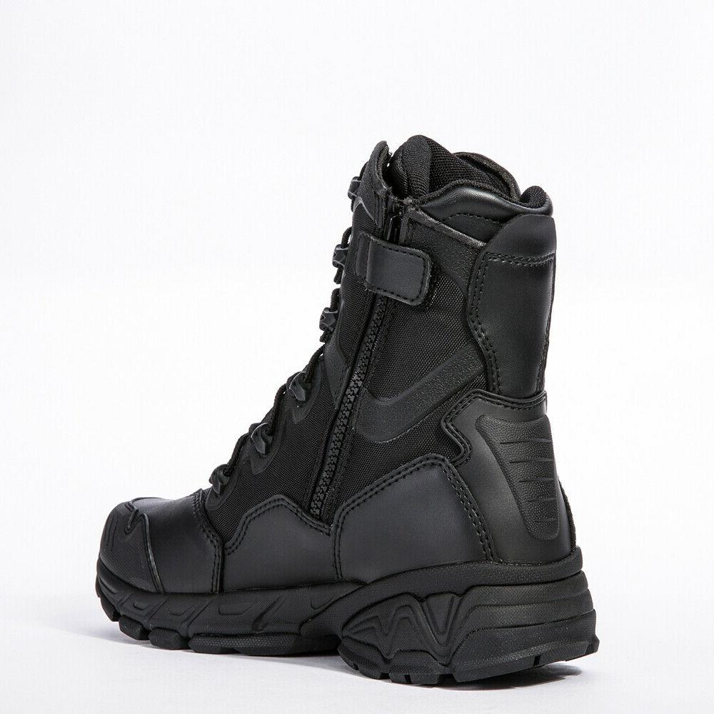 Mens Military Army Boots Zipper