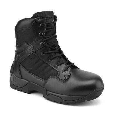 NORTIV Mens Tactical Boots Zipper Ankle Hiking Boots
