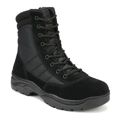 NORTIV Military Tactical Leather Motorcycle Combat Boots