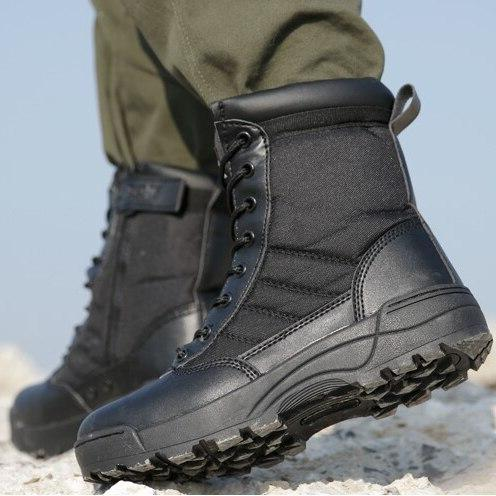 Men <font><b>Boots</b></font> Breathable High Top Desert Work Shoes Mens SWAT Ankle Boothj89