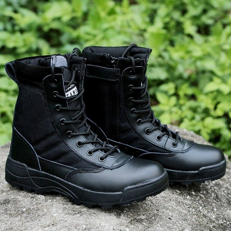 Men Tactical Military <font><b>Boots</b></font> High Casual Work Shoes Mens Ankle Boothj89