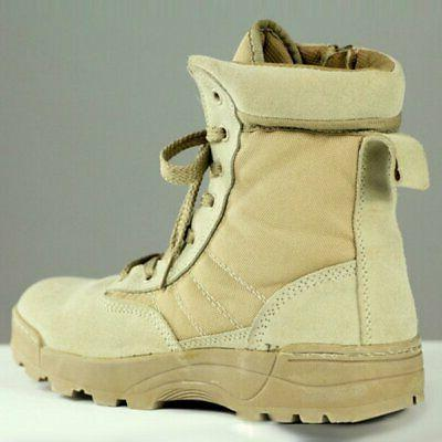 Men Tactical Military Duty Work Entry Combat Shoes