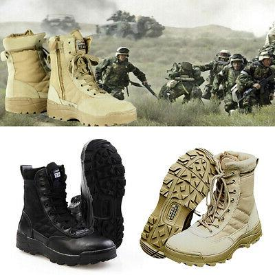 men tactical military swat combat boots forced