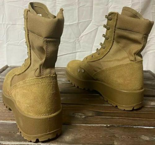 Mens Army Combat Boots Coyote Soles Worn
