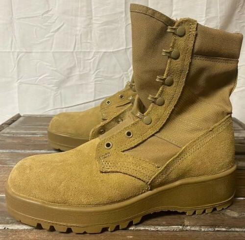 Mens Army Hot Weather Combat Boots Size Coyote Worn