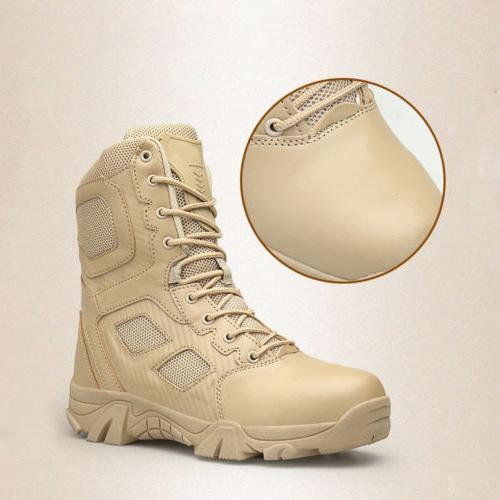 Mens Leather Combat Boots