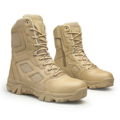Mens Army Leather Military Boots