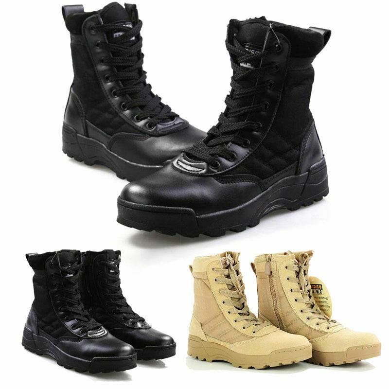 Mens Army Tactical Leather Boots