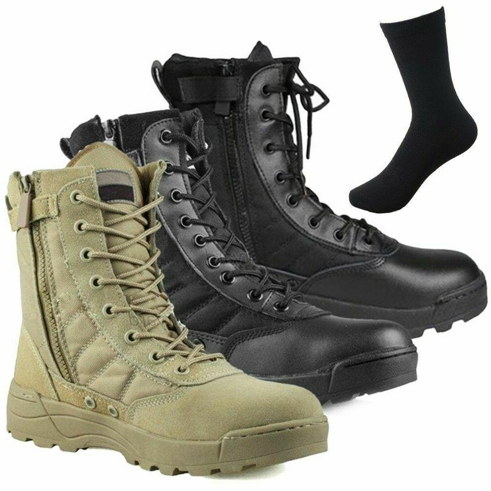 mens army tactical comfort leather combat military