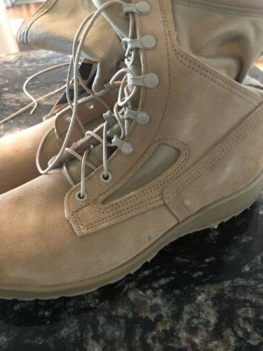MENS LACE UP STEEL TOE VIBRAM MILITARY/COMBAT 9.5