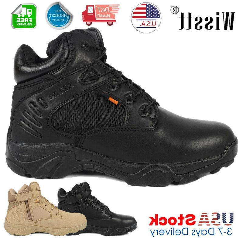 mens military tactical survival ankle boots desert