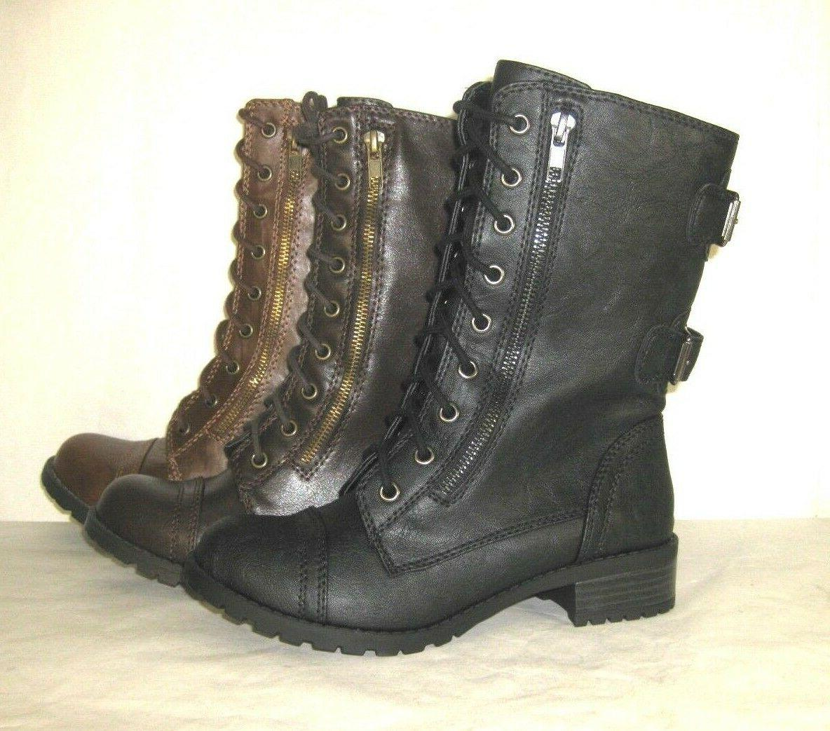MILITARY MOTORCYCLE UP WOMEN BOOTS SODA