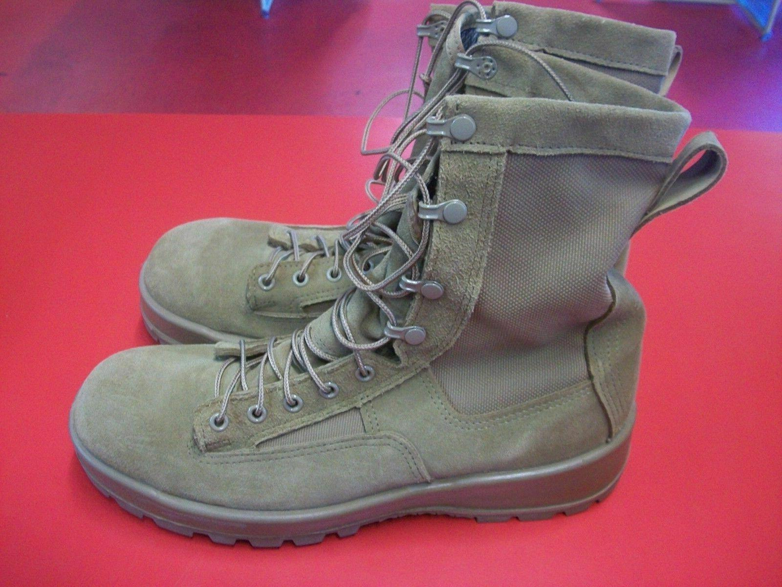 MILITARY COYOTE GORE-TEX COMBAT BOOTS SIZE: