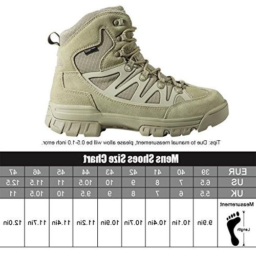 FREE SOLDIER Men's Outdoor Military Ultra Combat Mid Boot