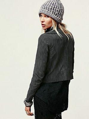 NEW 2 XS JACKET COAT $198 TOP Vegan Grey
