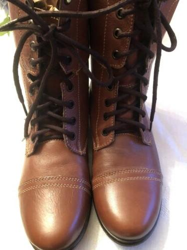 New! Steve Madden Troopa Boots Lace Up 9 M