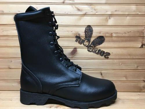 new leather speedlace military combat boots sz