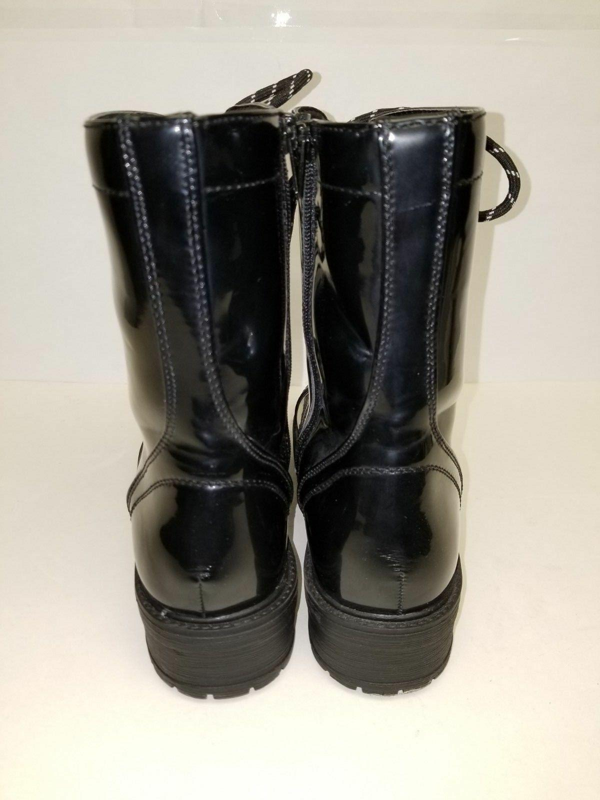 NEW! MADDEN GIRL BLACK COMBAT Side-Zip with Size 7.5