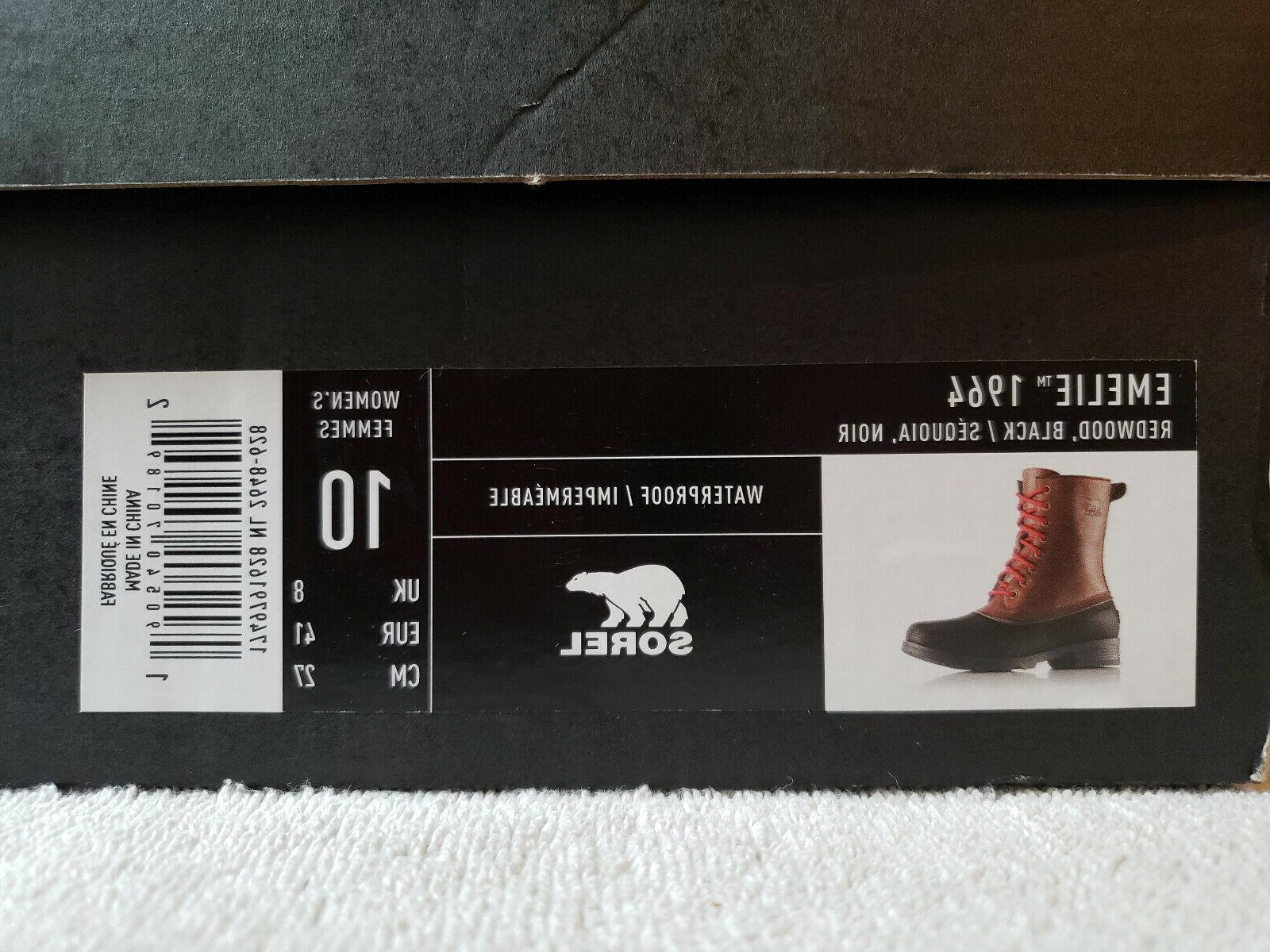 🌟SOREL Size 10 1964 Boots Black/Red